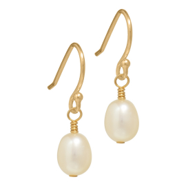 small gold pearl earrings