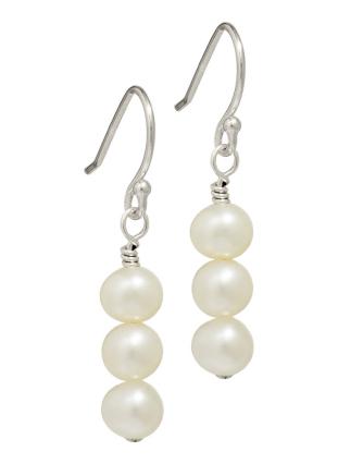 trio freshwater pearl earrings