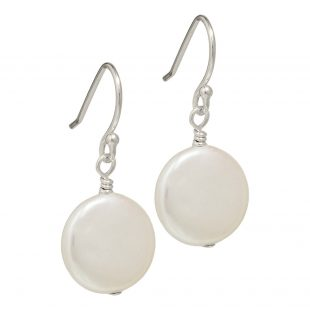 freshwater coin pearl earrings