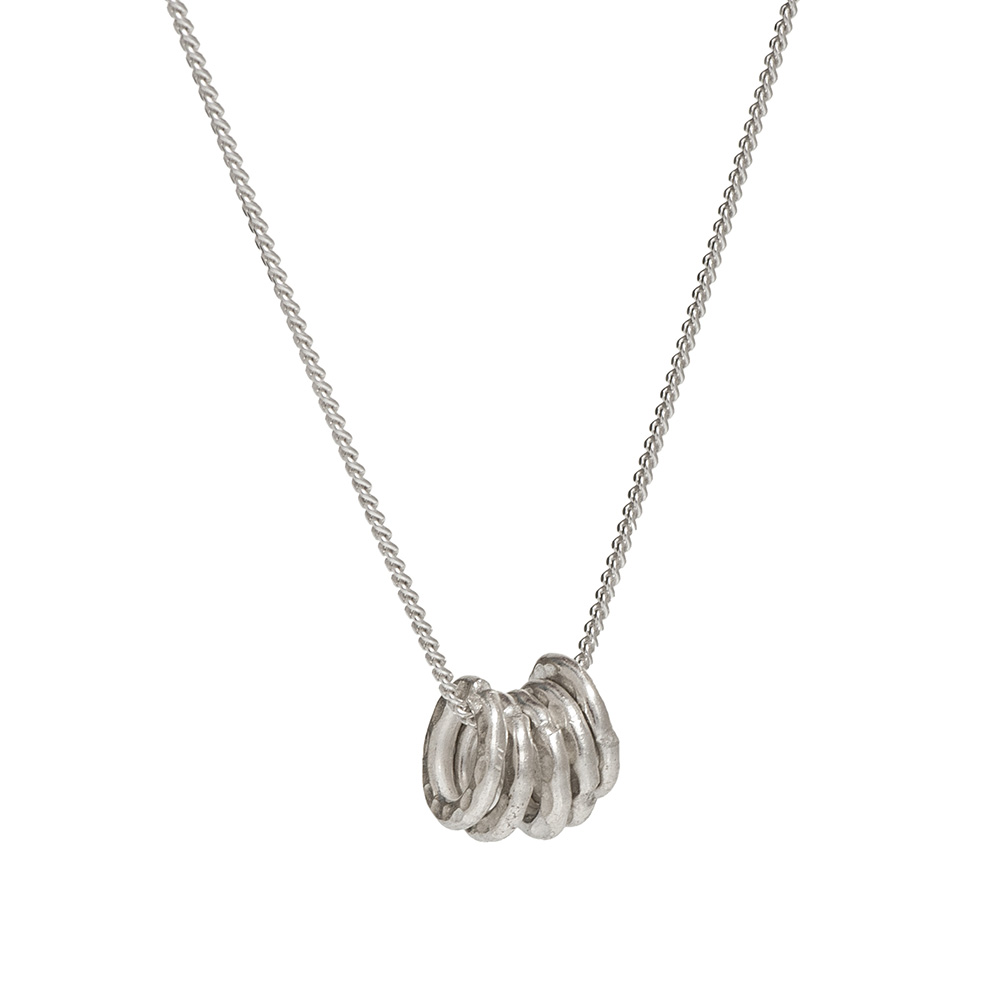 lucky rings silver pendant necklace