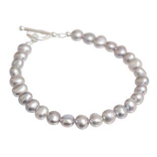 pale grey freshwater pearl bracelet