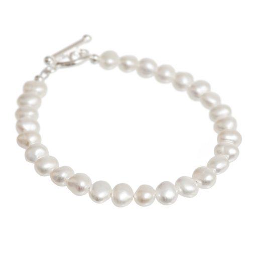 cream freshwater pearl bracelet