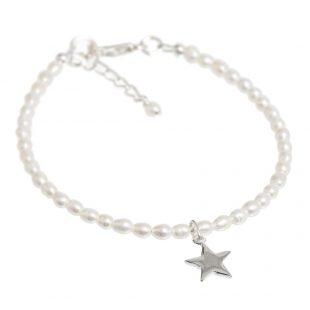 tiny star pearl bracelet