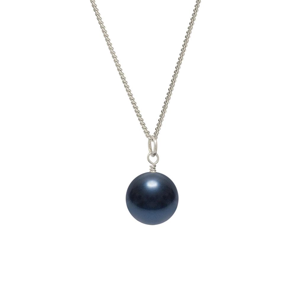 dark blue pearl drop pendant