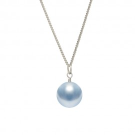 pale blue pearl drop pendant
