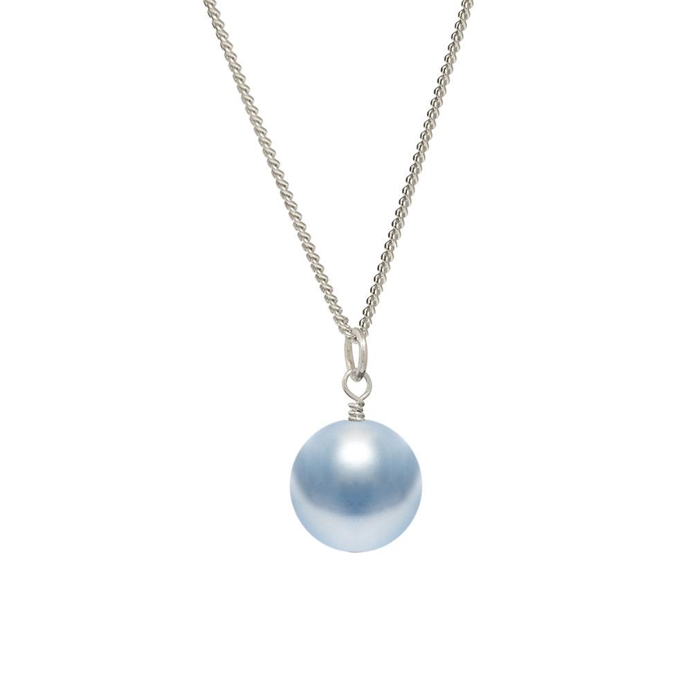 pale blue pearl drop pendant