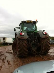 Biba & Rose being towed!