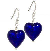 Deep Blue Murano glass earrings