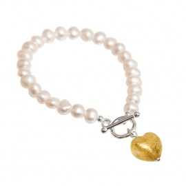 Gold Murano Glass pearl bracelet