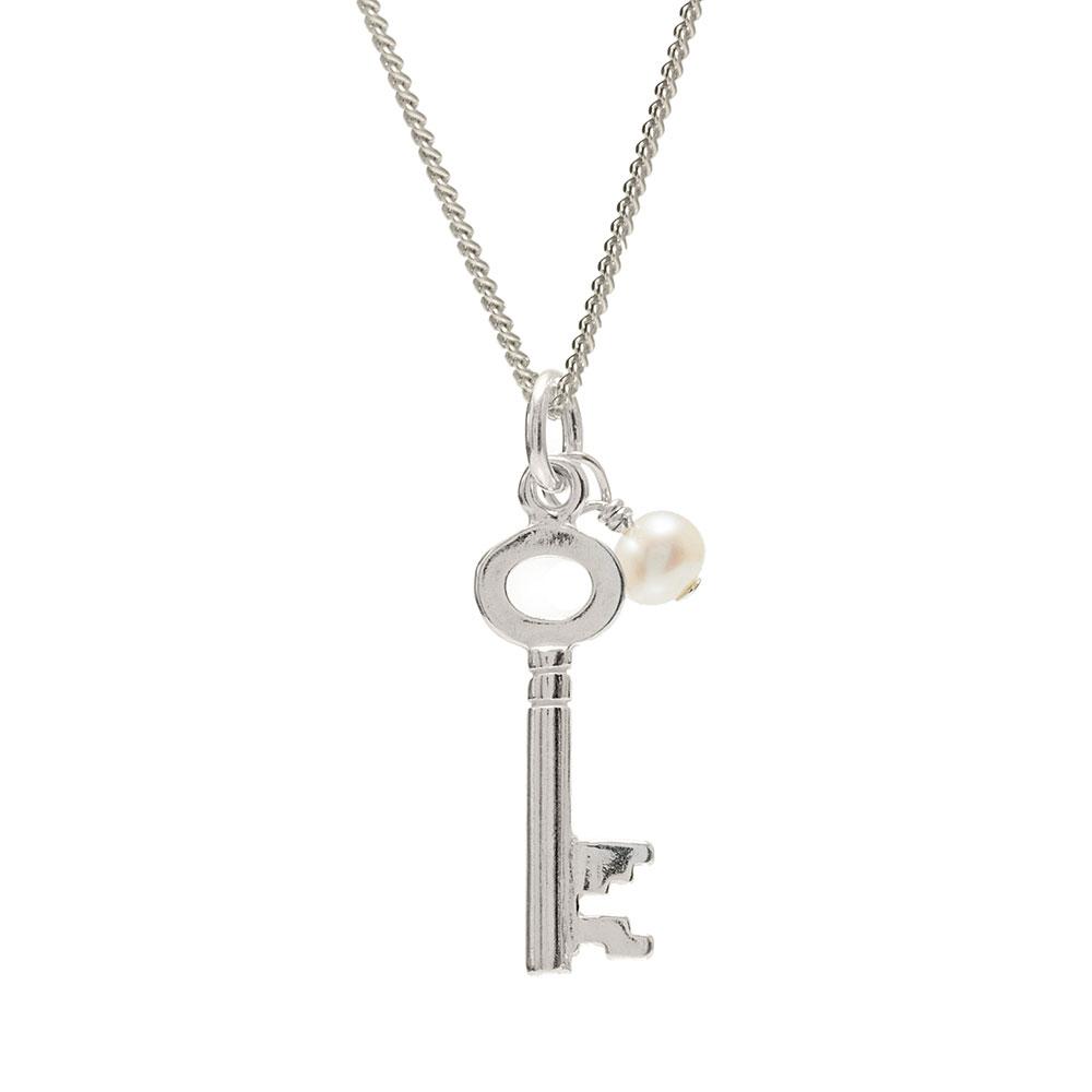 Silver key pendant silver jewellery biba rose for 18th key of the door