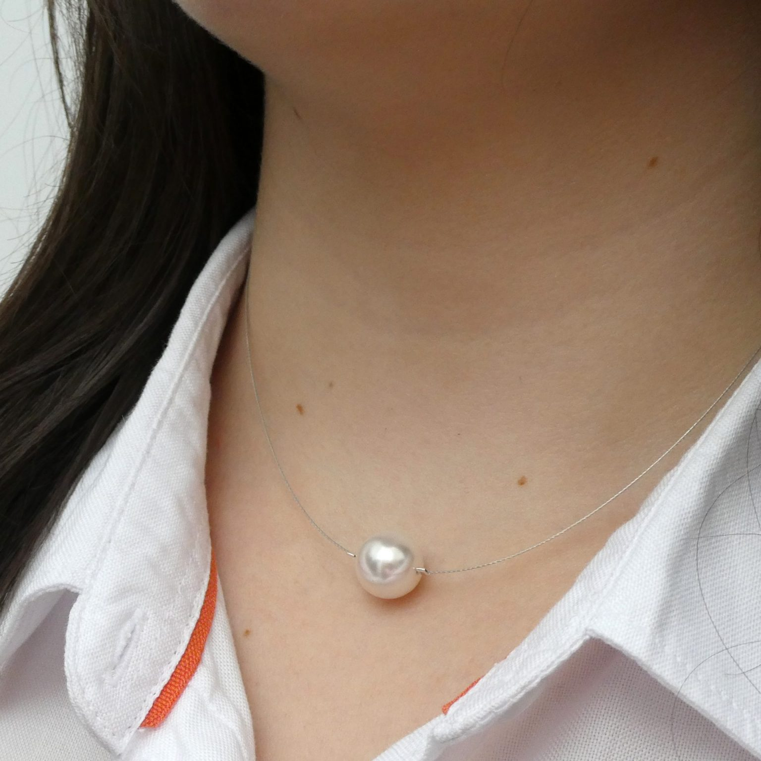 single pearl on wire