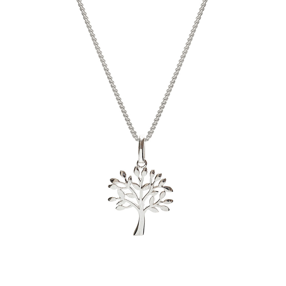Silver tree pendant tree of life necklace biba rose silver tree pendant aloadofball Gallery