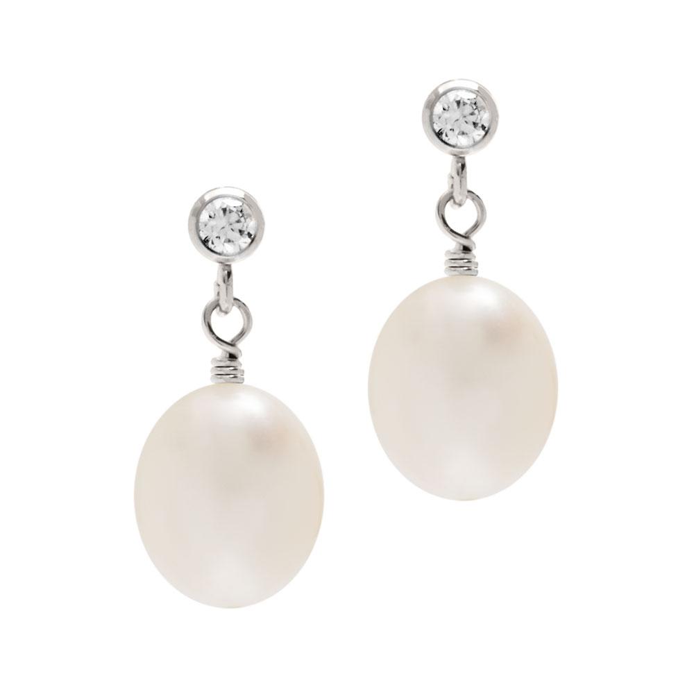 437b465ac Crystal And Pearl Bridal Earrings | Biba & Rose