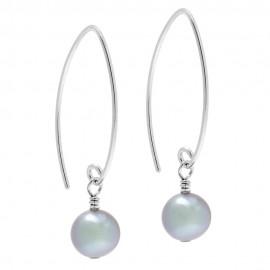 Long Drop Pearl Earrings