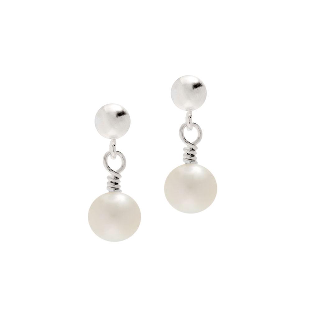96713c50c Cultured Pearl Drop Earrings | Pearl Earrings | Biba & Rose