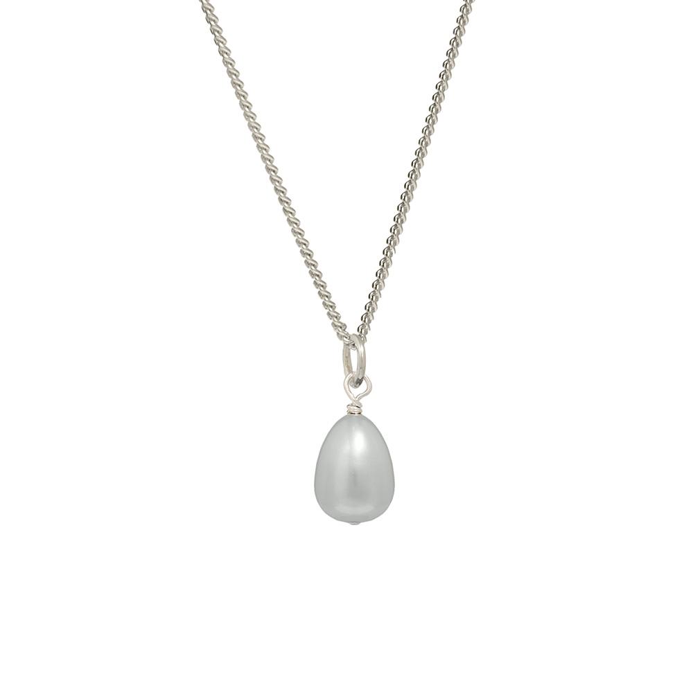 grey freshwater pearl pendant