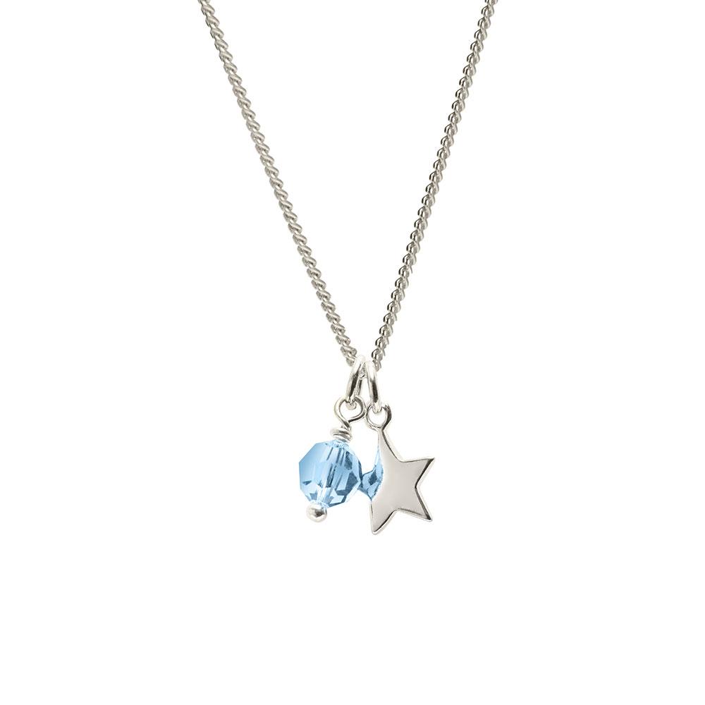 March Birthstone pendant
