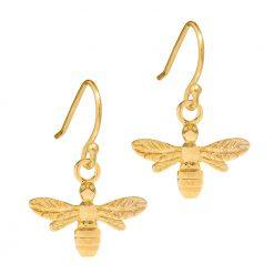 Gold Bee Earrings