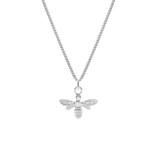 Silver Honey Bee Pendant