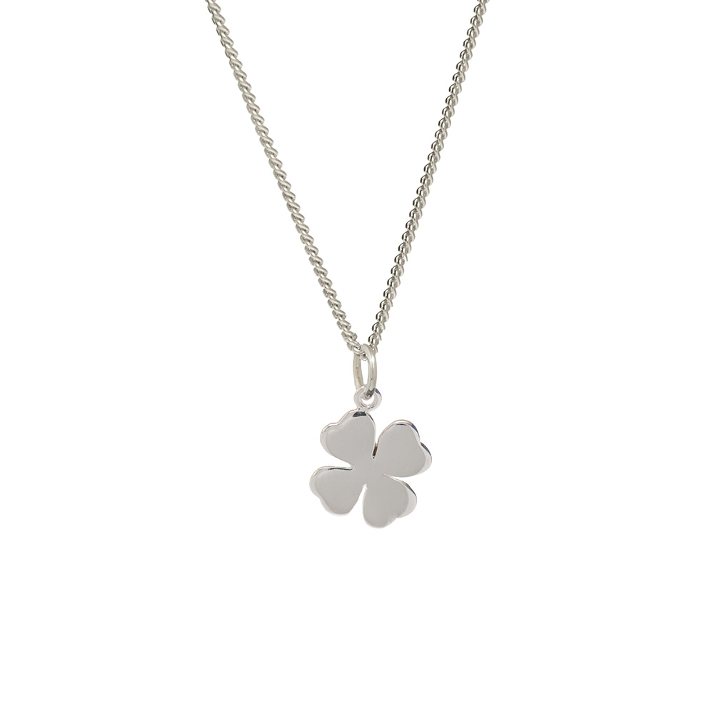 Silver four leaf clover pendant good luck pendant biba rose homesilver pendants silver four leaf clover pendant mozeypictures Image collections