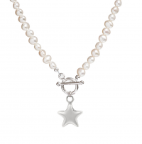 pearl necklace with star