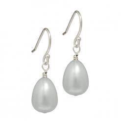 Grey Teardrop Pearl Earrings