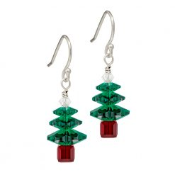 Biba & rose Christmas Tree Earrings