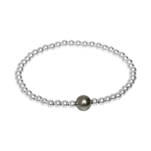 Elasticated Silver Bracelet