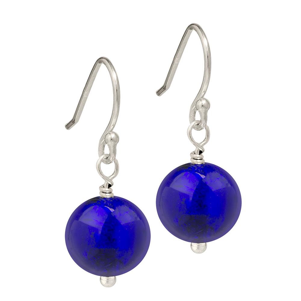 Cobalt blue Murano Glass earrings