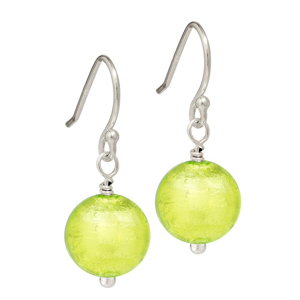bright green Murano Glass Earrings