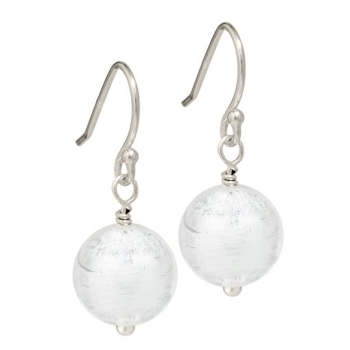 silver Murano Glass earrings