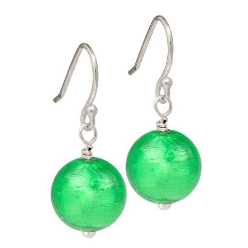 emerald green Murano Glass earrings