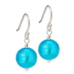 aqua Murano Glass earrings