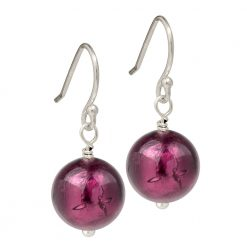 purple Murano Glass earrings