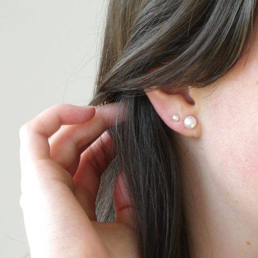 Tiny Pearl Stud Earrings
