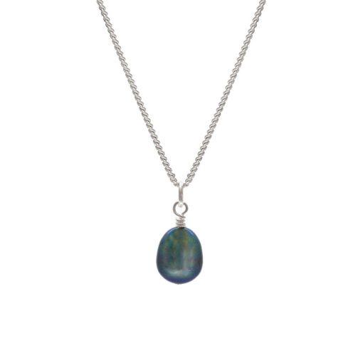Dark pearl pendant