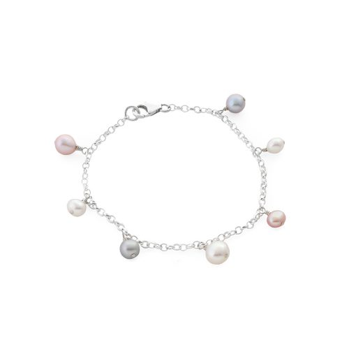 Charm Bracelet with Pearls