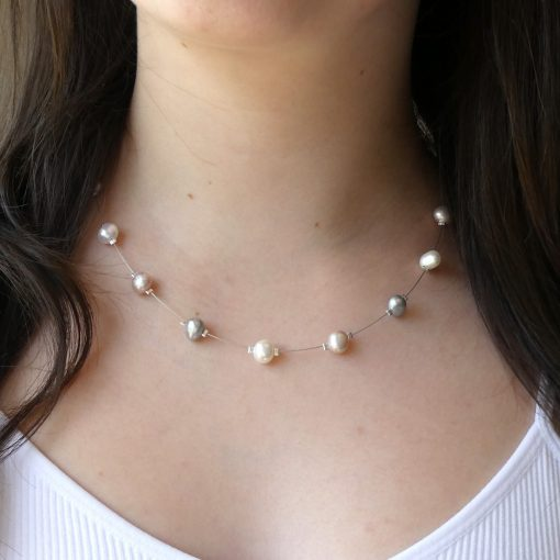 Biba & Rose floating pearl necklace