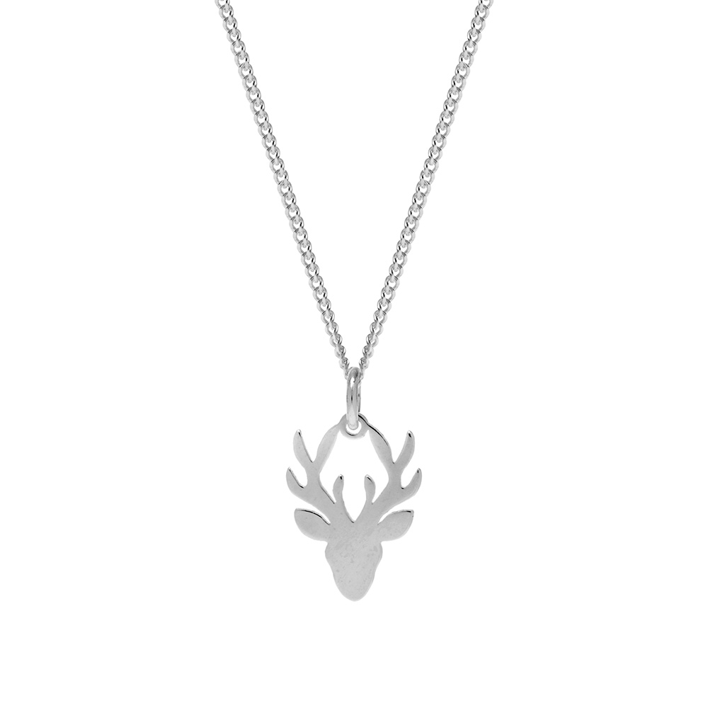 Sterling Silver Stag Pendant
