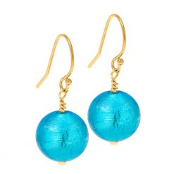 Turquoise Murano Glass on gold