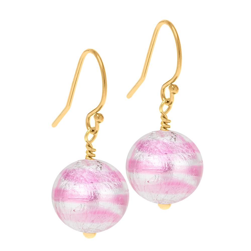 pink Murano Glass Earrings