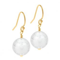 Murano Glass earrings on gold fittings