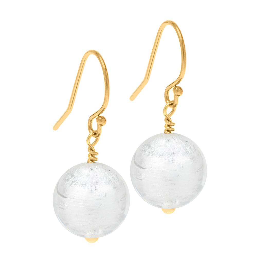 Murano Glass earrings on gold fittings