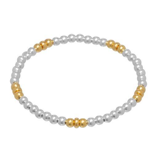 mixed metal stretch bracelet