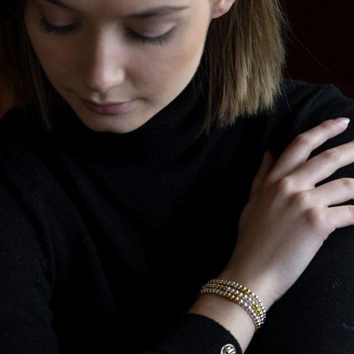 gold and silver stretch bracelets